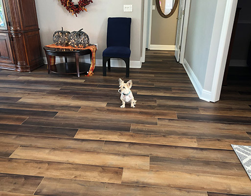 Luxury vinyl tile project by Abbey Carpet & Floor at Patricia's in Cape Coral, Florida