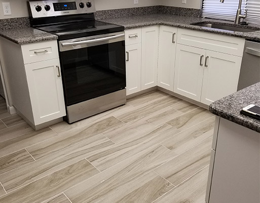 Tile project by Abbey Carpet & Floor at Patricia's in Cape Coral, Florida